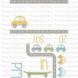 Car Birth Announcement US pm SVG