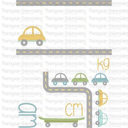Car Birth Announcement Metric am SVG