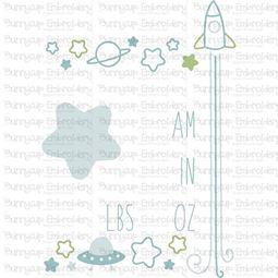 Space Birth Announcement US am SVG