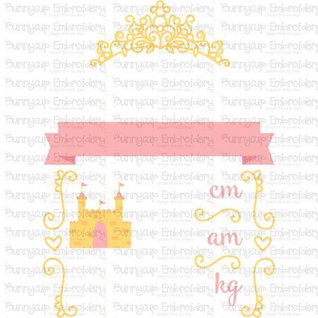 Princess Birth Announcement Metric am SVG