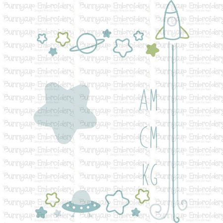 Space Birth Announcement Metric am SVG