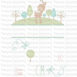 Forest Birth Announcement Metric am SVG