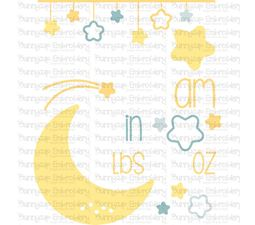 Moon Birth Announcement US am SVG