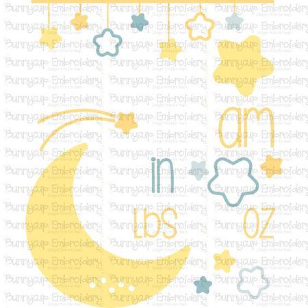 Moon Birth Announcement US am SVG