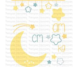 Moon Birth Announcement Metric am SVG