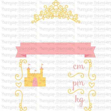 Princess Birth Announcement Metric pm SVG