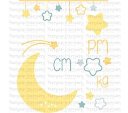 Moon Birth Announcement Metric pm SVG