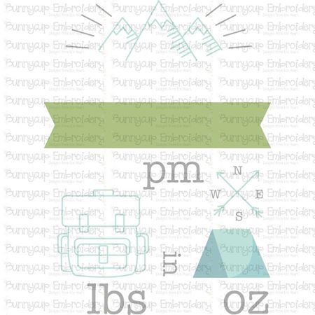 Camping Birth Announcement US pm SVG