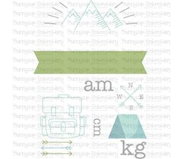 Camping Birth Announcement Metric am SVG