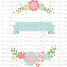 Floral Birth Announcement Metric am SVG