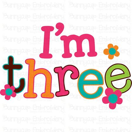 I'm Three SVG