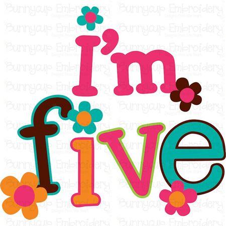 I'm Five SVG