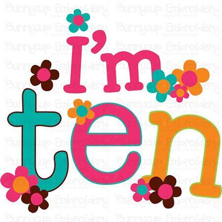 I'm Ten SVG