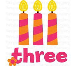 Three Candles SVG