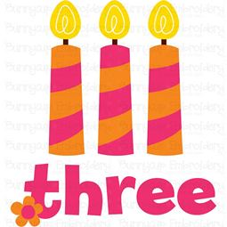 Three Candles SVG