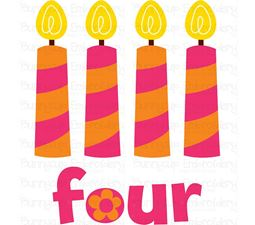 Four Candles SVG