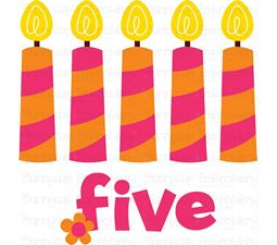 Five Candles SVG