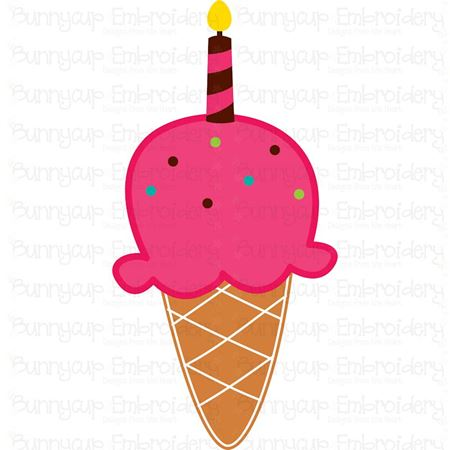 One Scoop Birthday Ice Cream SVG