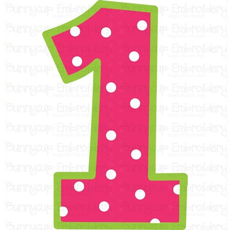 Birthday Number 1 SVG
