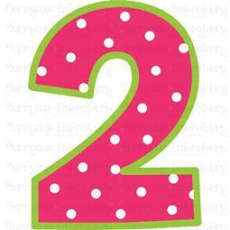 Birthday Number 2 SVG