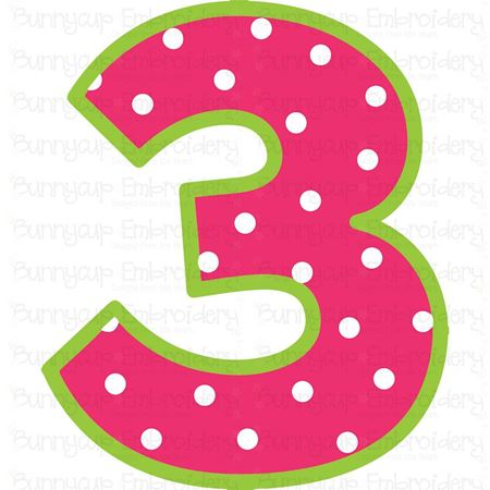 Birthday Number 3 SVG