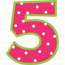 Birthday Number 5 SVG