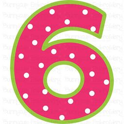 Birthday Number 6 SVG