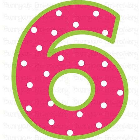 Birthday Number 6 SVG