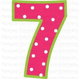 Birthday Number 7 SVG
