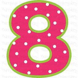 Birthday Number 8 SVG
