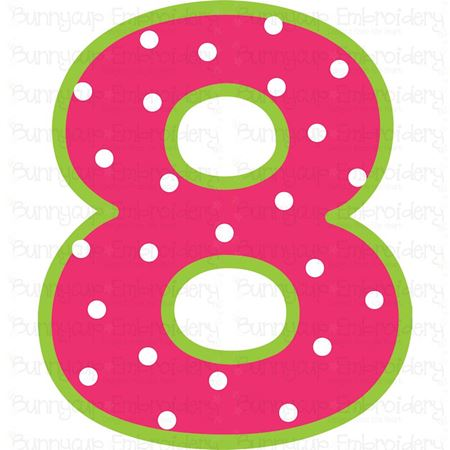 Birthday Number 8 SVG