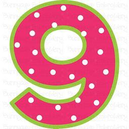 Birthday Number 9 SVG