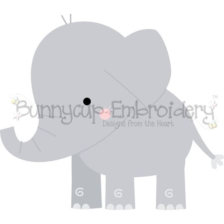 Boxy Elephant SVG