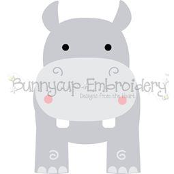 Boxy Hippo SVG