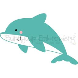 Boxy Dolphin SVG