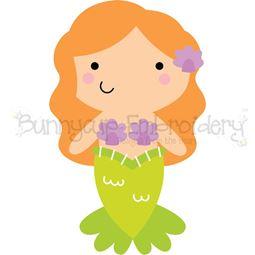 Boxy Mermaid SVG
