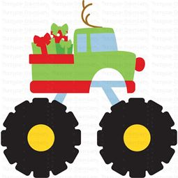 Christmas Monster Truck SVG