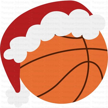 Basketball with Santa Hat SVG