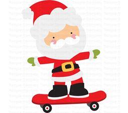Skateboard Santa SVG