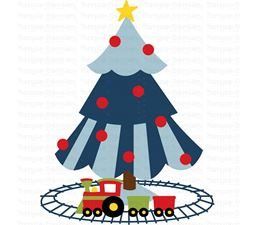Boys Christmas Tree SVG