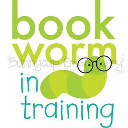 Bookworm In Training SVG