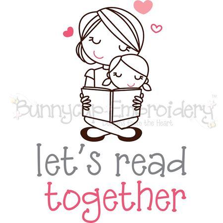 Girl Let's Read Together SVG