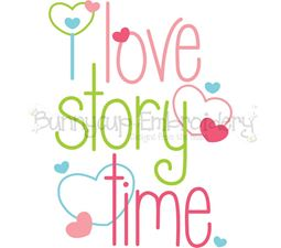 I Love Story Time SVG