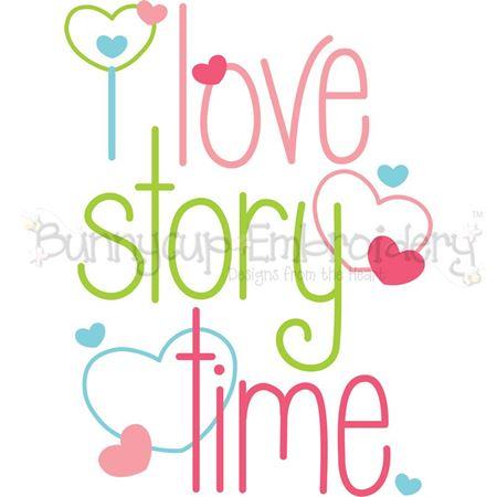 I Love Story Time SVG