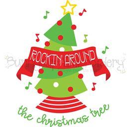 Rocking Around The Christmas Tree SVG
