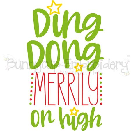 Ding Dong Merrily On High SVG