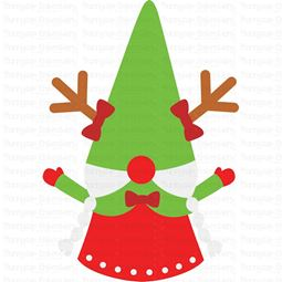 Girl Reindeer Gnome SVG