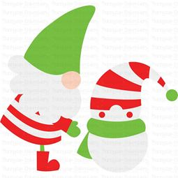 Gnome and Snowman SVG
