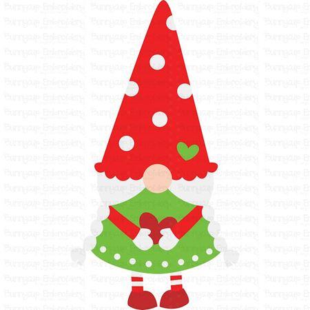 Girl Christmas Gnome SVG