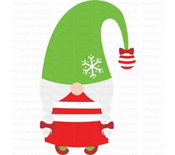 Girl Gnome With Droopy Hat SVG